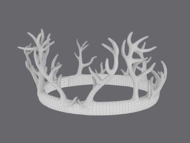 wireframe of renly baratheon crown 3d model turbosquid