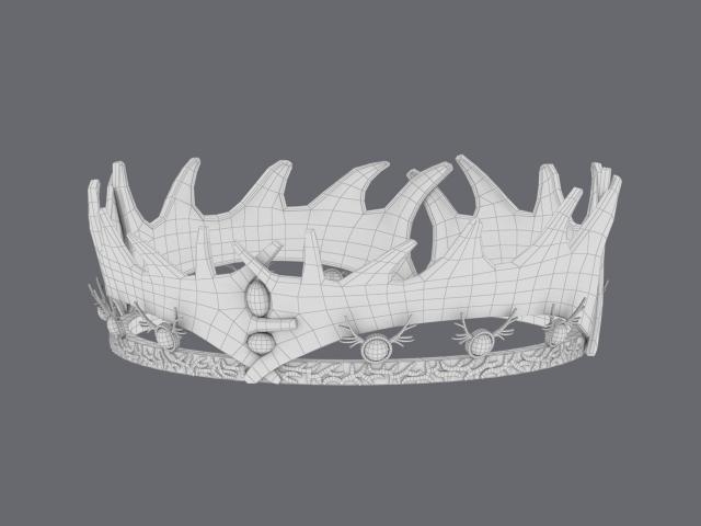 robert baratheon crown wireframe 3d model turbosquid