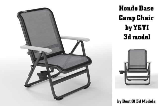 hondo base camp chair by yeti 3d model