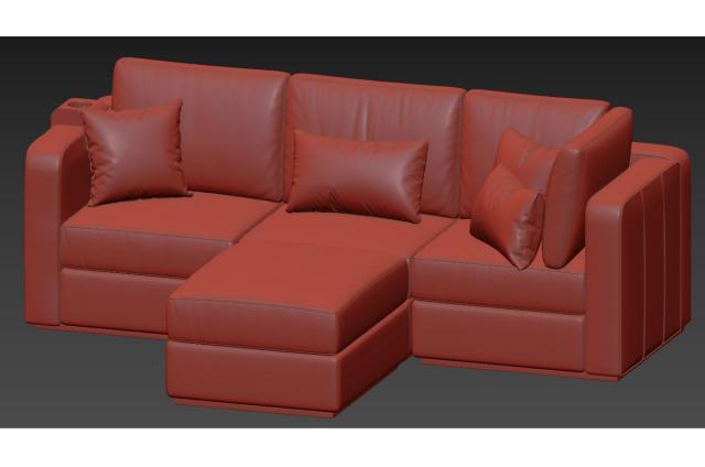 sectional sofa 3d model lovesac