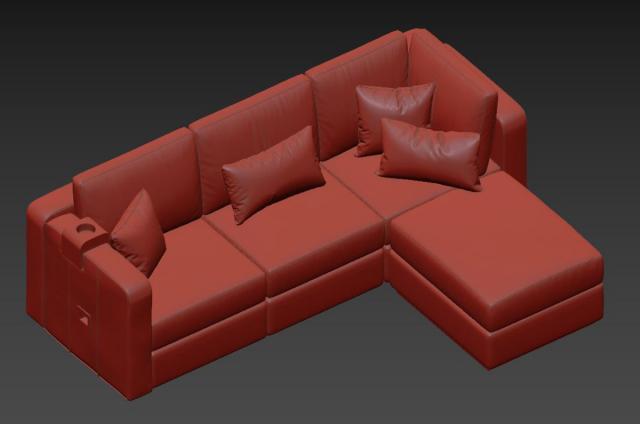 changeable sofa 3d model lovesac