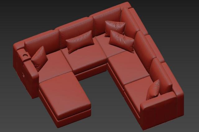 rearrengeable sofa 3d model lovesac