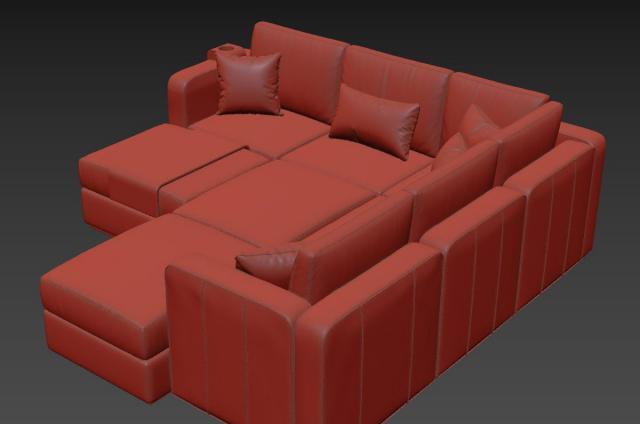washable sofa 3d model lovesac