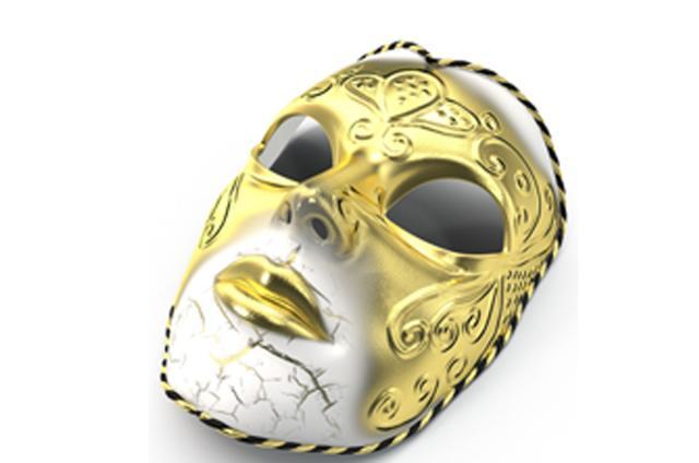 Mardi Gras New Orleans mask 3d model turbosquid