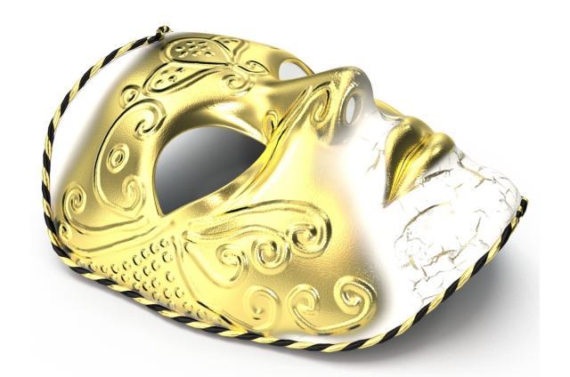 masquerade mask 3d model turbosquid