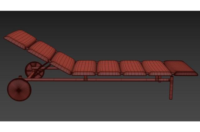 beach furniture 3d model