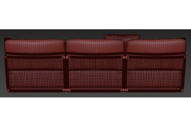 modular sofa 3d model tribu