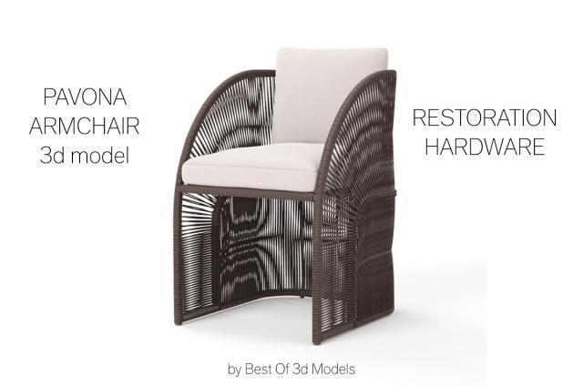 outdoor chair 3d model restoration hardware
