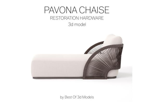 lounge chaise 3d model restoration hardware