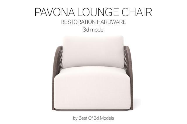 pavona lounge chair 3d model restoration hardware