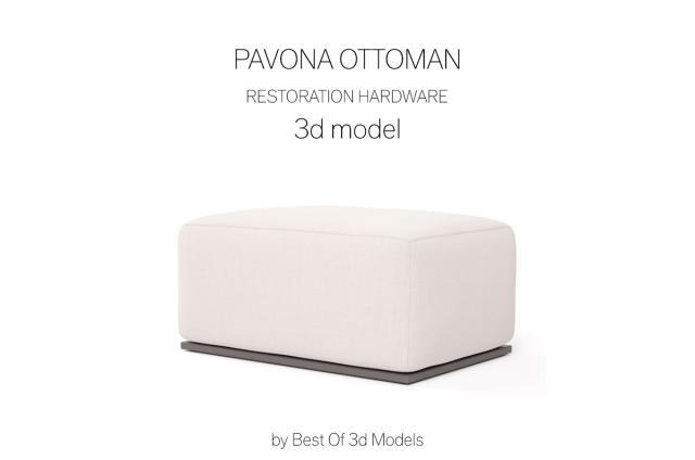 footrest 3d model restoration hardware