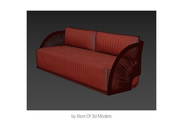 restoration hardware sofa new collection 3d model