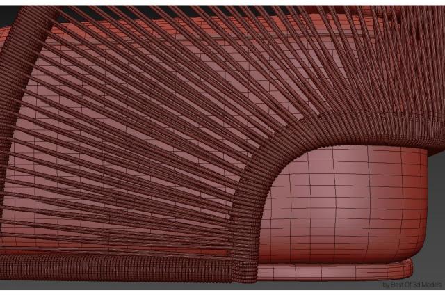 rattan sofa 3d model restoration hardware