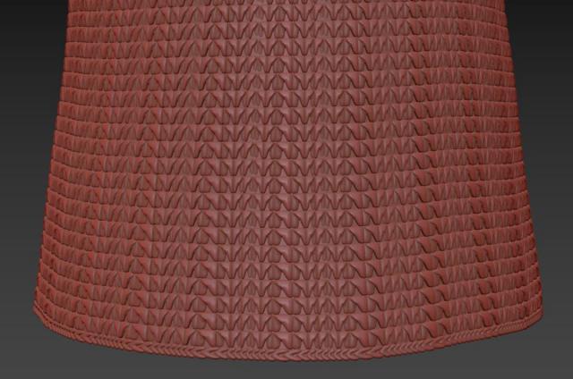 rattan ceiling light 3d model