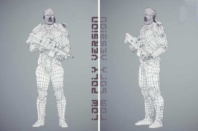 Futuristic soldier armor for war 3d model turbosquid