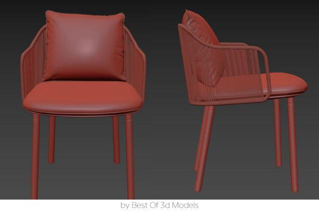 woven amchair tribu 3d model