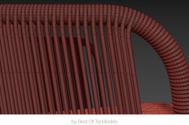 rattan chair 3d model tribu