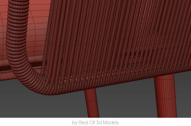 outdoor armchair tribu 3d model