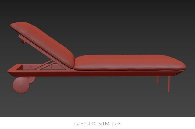 outdoor folding chair 3d model tribu