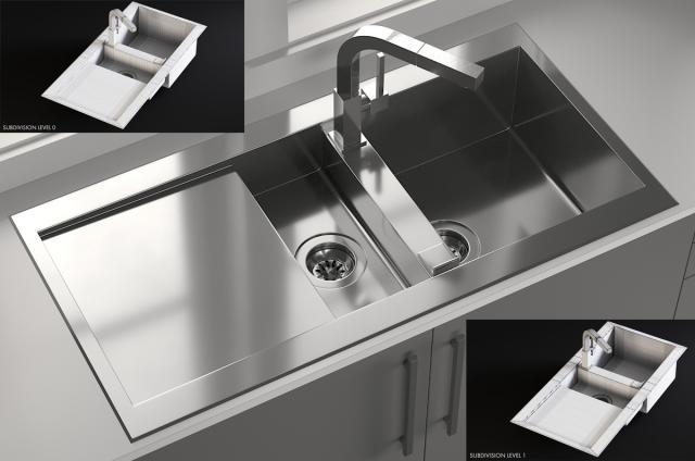 Sink Smeg And Tap Smeg 3d model turbosquid