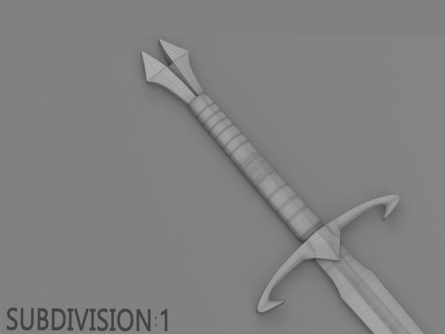 two hander sword 3d model turbosquid