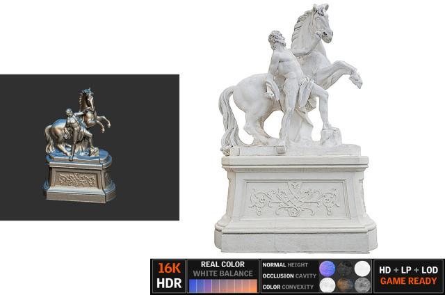 horse sculpture scanned 3d model turbosquid