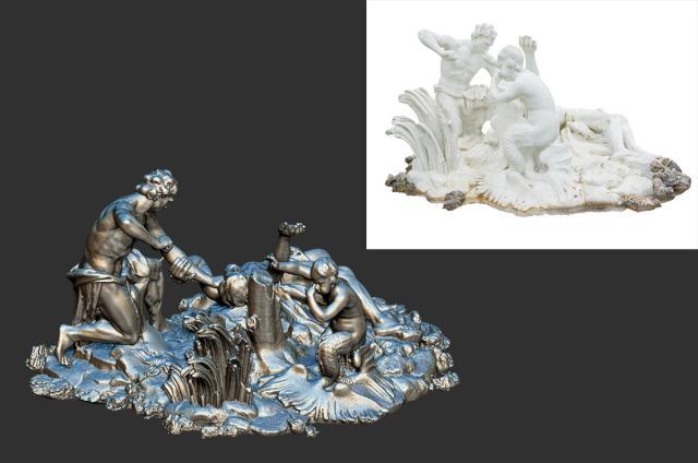Belvedere museum statue scanned 3d model turbosquid
