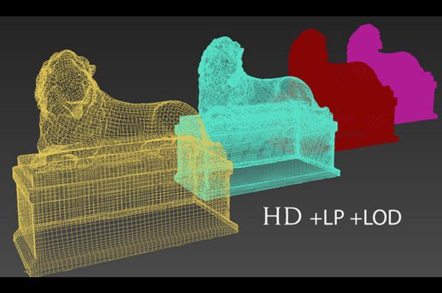lion statue 3d modeling scanned turbosquid