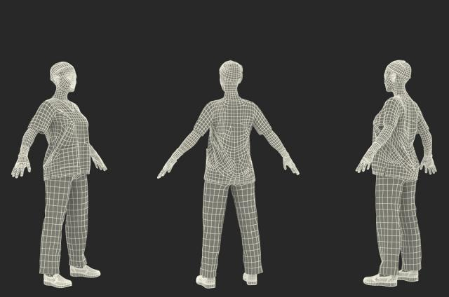 doctor 3d model wireframe rigged turbosquid