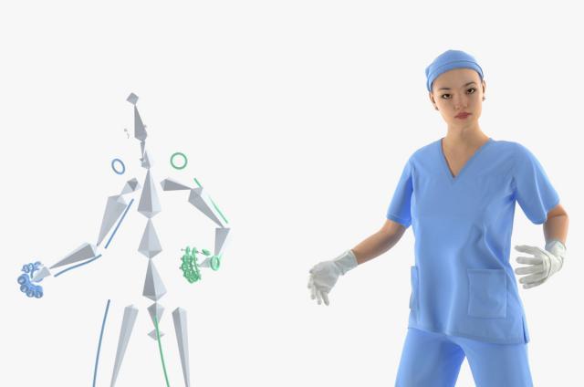 healthcare person 3d model rigged turbosquid