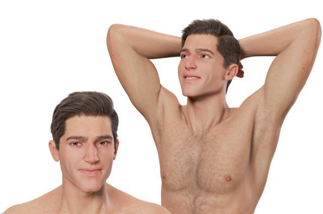 muscular man 3d model rigged turbosquid