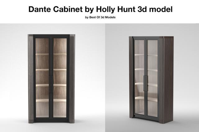 Dante Cabinet Holly Hunt 3d model