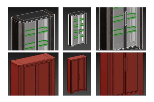 storage cabinet Holly Hunt 3d model