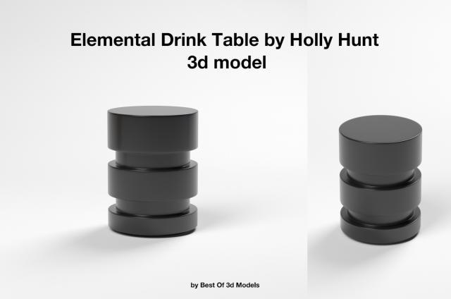 Elemental Drink Table 3d model Holly Hunt