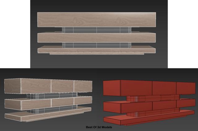 cupboard furniture 3d model holly hunt