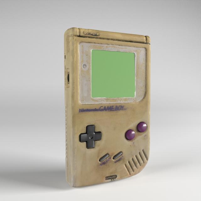 gameboy 3d model