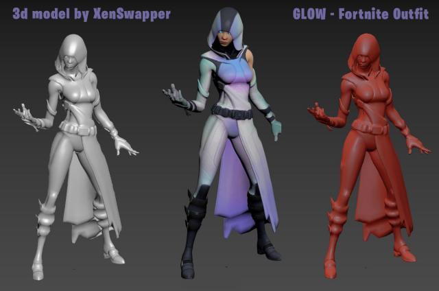 fortnite game character free 3d model