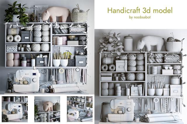 handicraft workshop 3d model turbosquid
