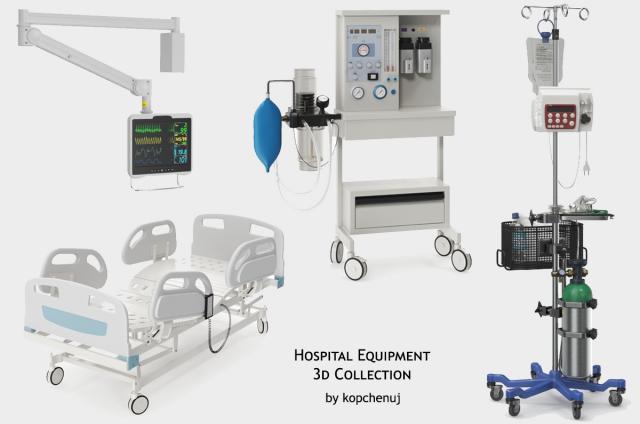hospital equipment 3d model turbosquid