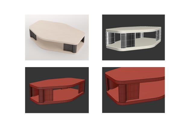 coffee table holly hunt 3d model