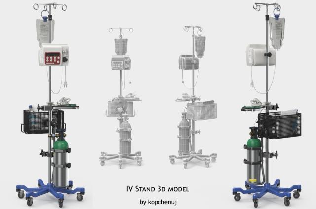 iv stand 3d model turbosquid