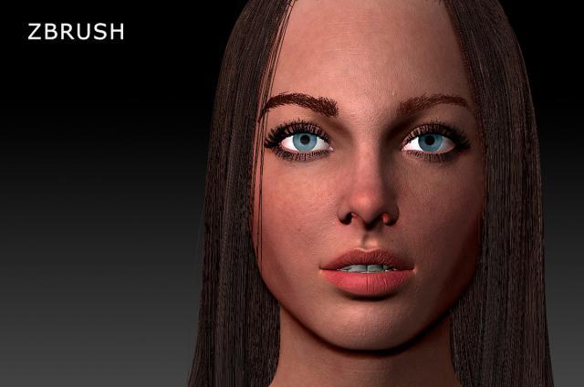 woman zbrush 3d model turbosquid
