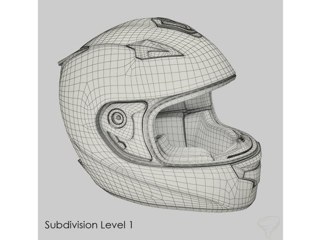 motorcycle helmet 3d model turbosquid