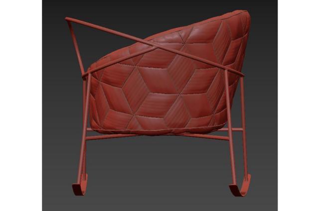 modern outdoor armchair garda furniture 3d model