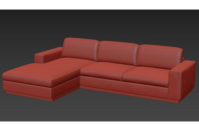 nordic design sofa 3d model