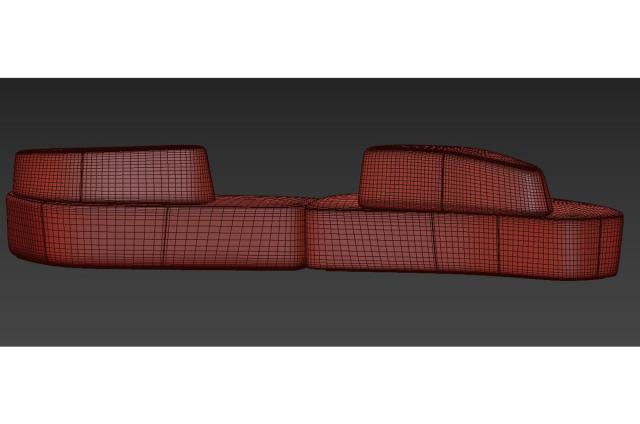 Pearson Lloyd sofa 3d model tacchini