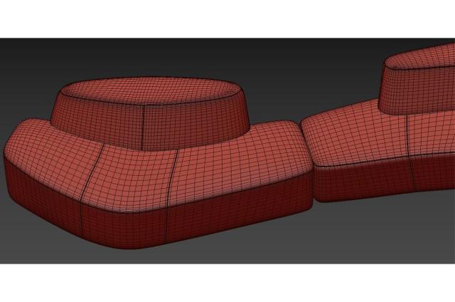 sectional sofa 3d model tacchini