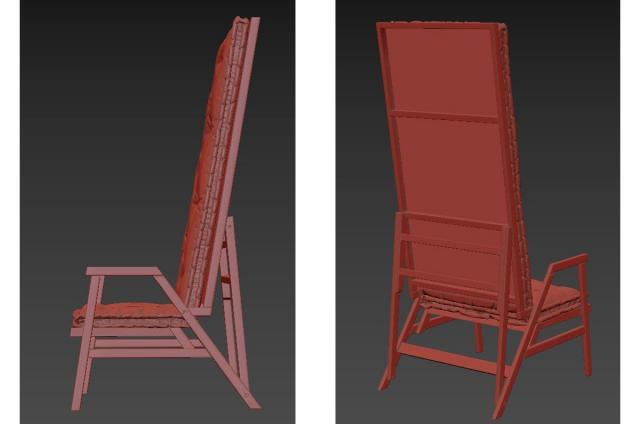 recliner armchair 3d model twils