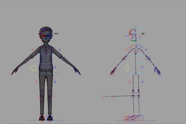 rigged cartoon character 3d model turbosquid