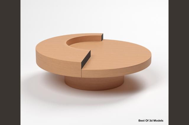 round cocktail table Holly Hunt 3d model